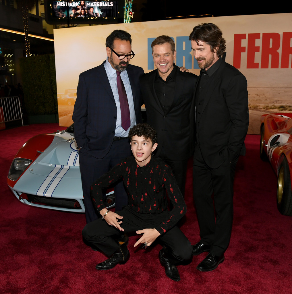 Christian Bale Matt Damon James Mangold Noah Jupe Christian Bale And Noah Jupe Photos Premiere Of Fox S Ford V Ferrari Red Carpet Zimbio