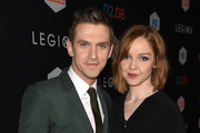 """Actor Dan Stevens (L) and Susie Stevens arrive at the premiere of FX's """"Legion"""" at the Pacific Design Center on January 26, 2017 in West Hollywood, California."""