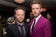 "Creator/executive producer Noah Hawley (L) and actor Dan Stevens pose at the after party for the season 2 premiere of FX's ""Legion"" at Soho House on April 2, 2018 in West Hollywood, California."