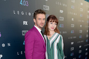 Dan Stevens (L) and Susie Hariet attend the premiere of FX's 'Legion' Season 2 at DGA Theater on April 2, 2018 in Los Angeles, California.
