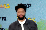"""Deray Davis arrives at the premiere of FX's """"Snowfall"""" Season 2 at the Regal Cinemas L.A. LIVE Stadium 14 on July 16, 2018 in Los Angeles, California."""