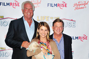 (L-R) Ron Danta, Lori Lughlin and Danny Robertshaw attend the Premiere Of FilmRise's 'Life In The Doghouse' at Writers Guild Theater on September 5, 2018 in Beverly Hills, California.