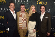 "Lawrence Bender, Neil Jordan, Chloe Grace Moretz and John Penotti attend the premiere of Focus Features' ""Greta"" at ArcLight Hollywood on February 26, 2019 in Hollywood, California."