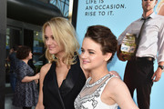 Actresses Hunter King and Joey King attend Focus Features' 'Wish I Was Here' premiere at DGA Theater on June 23, 2014 in Los Angeles, California.