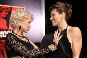 "Dame Helen Mirren (L) and actress Jessica Biel arrive at the premiere of Fox Searchlight Pictures' ""Hitchcock"" at the Academy of Motion Picture Arts and Sciences Samuel Goldwyn Theater on November 20, 2012 in Beverly Hills, California."
