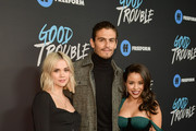 """Maia Mitchell, Tommy Martinez, and Cierra Ramirez attend the premiere of Freeform's """"Good Trouble"""" at Palace Theatre on January 08, 2019 in Los Angeles, California."""