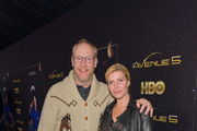 """Matt Walsh and Morgan Walsh attend the premiere of HBO's """"Avenue 5""""  at Avalon Theater on January 14, 2020 in Los Angeles, California."""