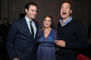 "Bill Hader, Amy Gravitt and Casey Bloys attend the after party for the premiere of HBO's ""Barry"" at NeueHouse Hollywood on March 21, 2018 in Los Angeles, California."