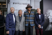 """Director/Producer Fenton Bailey, actor George Takei,  television personality RuPaul and Director/Producer Randy Barbato attend the premiere of HBO Documentary Films' """"Mapplethorpe: Look At The Pictures"""" on March 15, 2016 in Los Angeles, California."""