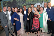 (L-R) Executive Producer/Director Jean-Marc Vallee, President of HBO Programming Casey Bloys, Executive Producer Nathan Ross, Executive Producer/Author Gillian Flynn, Executive Producer Jessica Rhoades, HBO Chairman and CEO Richard Plepler, Amy Adams, Executive Producer Jason Blum, Executive Producer/Creator Marti Noxon, Executive Producers Gregg Fienberg, Marci Wiseman, Charles Layton, and Jeremy Gold attend the premiere of HBO's 'Sharp Objects' at The Cinerama Dome on June 26, 2018 in Los Angeles, California.