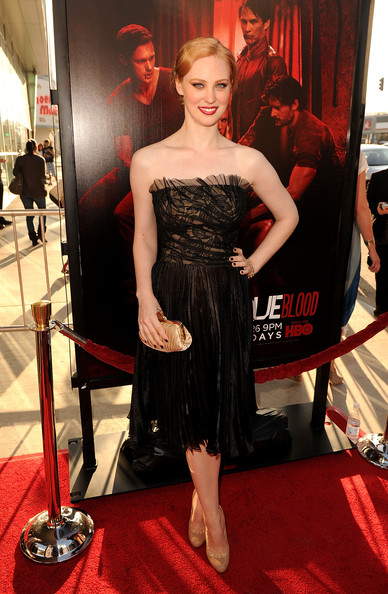 "Actress Deborah Ann Woll arrives at premiere of HBO's ""True Blood"" Season 4 at ArcLight Cinemas Cinerama Dome on June 21, 2011 in Los Angeles, California."