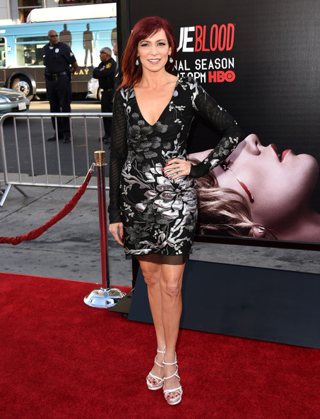 "Actress Carrie Preston attends the premiere of HBO's ""True Blood"" season 7 and final season at TCL Chinese Theatre on June 17, 2014 in Hollywood, California."