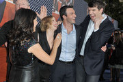 Julia Louis-Dreyfuss, Anna Chlumsky, Reid Scott and Timothy Simons attend the Los Angeles premiere for the second season of HBO's series 'Veep' at Paramount Studios on April 9, 2013 in Hollywood, California.