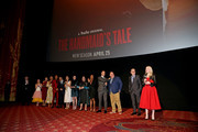 """The cast of """"The Handmaid's Tale"""" attend the premiere of Hulu's """"The Handmaid's Tale"""" Season 2 at TCL Chinese Theatre on April 19, 2018 in Hollywood, California."""