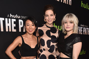 Actors Ali Ahn, Michelle Monaghan and Sarah Jones attend the premiere of Hulu's 'The Path' at ArcLight Hollywood on March 21, 2016 in Hollywood, California.