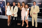 (L-R) Sistine Rose, actor Sylvester Stallone, Sophia Rose Stallone; Jennifer Flavin Stallone, Scarlet Rose Stallone and Frank Stallone attend Lionsgate Films' 'The Expendables 3' premiere at TCL Chinese Theatre on August 11, 2014 in Hollywood, California.