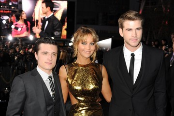 "Josh Hutcherson Liam Hemsworth Premiere Of Lionsgate's ""The Hunger Games"" - Red Carpet"
