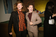 """Blake Anderson and Adam Devine arrive at the Lionsgate's """"Jexi"""" after party on October 03, 2019 in Los Angeles, California."""