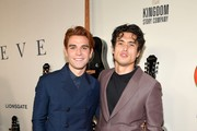 """(L-R) K.J. Apa and Charles Melton attend the premiere of Lionsgate's """"I Still Believe"""" at ArcLight Hollywood on March 07, 2020 in Hollywood, California."""