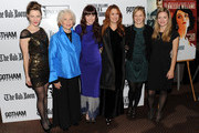 """Jessica Collins, Ellen Burstyn, Bryce Dallas Howard, Jodie Markell, Marin Ireland and Zoey Perry attend the premiere of """"The Loss of a Teardrop Diamond"""" hosted by Gotham Magazine and Paladin at City Cinemas 123 on December 10, 2009 in New York City."""