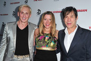 """(L-R) Designer David Meister and producers Heidi Jo Markel and Alan Siegel attend the premiere of Millennium Entertainment's """"The Iceman"""" at ArcLight Hollywood on April 22, 2013 in Hollywood, California."""