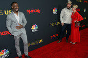 """Sterling K. Brown, Chris Sullivan and Rachel Reichard during the Season 3 Premiere of NBC's """"This Is Us"""" at Paramount Studios on September 25, 2018 in Hollywood, California."""