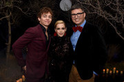 "(L-R) Ross Lynch, Kiernan Shipka and Roberto Aguirre-Sacasa attend the after party for the premiere of Netflix's ""Chilling Adventures Of Sabrina"" at the Hollywood Athletic Club on October 19, 2018 in Los Angeles, California."