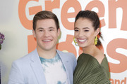 """(L-R) Adam DeVine and Chloe Bridges attend the premiere of Netflix's """"Green Eggs And Ham"""" at Hollywood American Legion on November 03, 2019 in Los Angeles, California."""