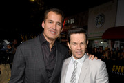 """(L-R) Netflix VP of Original Film Scott Stuber and Mark Wahlberg attend the Premiere of Netflix's """"Spenser Confidential"""" at Regency Village Theatre on February 27, 2020 in Westwood, California."""