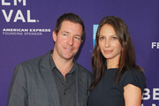 """Actor Edward Burns (L) and model Christy Turlington Burns attend the premiere of """"No Woman No Cry"""" during the 2010 Tribeca Film Festival  at Village East Cinema on April 24, 2010 in New York City."""