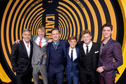 "(L-R) George Clooney, Jay Paulson, Lewis Pullman, Graham Patrick Martin, Josh Bolt and Pico Alexander attend the premiere of Hulu's ""Catch-22"" on May 07, 2019 in Hollywood, California."