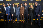 "(L-R) George, Clooney, Kyle Chandler, Head of Content for Hulu Craig Erwich, Grant Heslov, Christopher Abbott, Richard Brown, Ellen Kuras and Luke Davies attend the premiere of Hulu's ""Catch-22"" on May 07, 2019 in Hollywood, California."