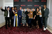 "Cast and crew attend the premiere of Netflix's ""What/If"" at The London on May 16, 2019 in West Hollywood, California."