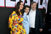 "(L-R) Aubrey Plaza, Gabriel Bateman and Mark Hamill arrive at the premiere of Orion Pictures and United Artists Releasing"" ""Child's Play"" at ArcLight Hollywood on June 19, 2019 in Hollywood, California."