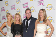 "Paris Hilton, Kathy Hilton, Rick Hilton and Nicky Hilton arrive at the premiere of Oxygen's new docu-series ""The World According to Paris"" at Tropicana Bar at The Hollywood Roosevelt Hotel on May 17, 2011 in Los Angeles, California."