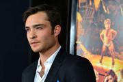 "Actor Ed Westwick arrives at the Premiere of Paramount Pictures' ""Fun Size"" at Paramount Theater on the Paramount Studios lot on October 25, 2012 in Hollywood, California."