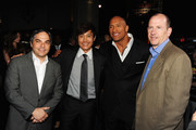 """(L-R) President/ Paramount Film Group Adam Goodman, actors Byung-Hun Lee, Dwayne Johnson and  Vice Chairman of Paramount Pictures Corporation Rob Moore attend the premiere of Paramount Pictures' """"G.I. Joe:Retaliation"""" at TCL Chinese Theatre on March 28, 2013 in Hollywood, California."""