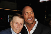 Sumner Redstone and Dwayne Johnson Photos Photo