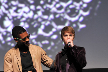 """Usher Justin Bieber Premiere Of Paramount Pictures' """"Justin Bieber: Never Say Never"""" - Red Carpet"""