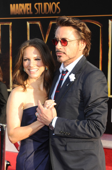 Actor Robert Downey Jr. and Susan Downey  arrive at the world premiere of Paramount Pictures and Marvel Entertainment's 'Iron Man 2 held at El Capitan Theatre on April 26, 2010 in Hollywood, California.
