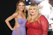 """Actresses Bar Paly (L) and Rebel Wilson arrive at the premiere of Paramount Pictures'.""""Pain & Gain"""" at TCL Chinese Theatre on April 22, 2013 in Hollywood, California."""