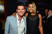 TV personalities David Tutera (L) and Tami Roman attend the premiere party for the third season of Marriage Boot Camp Reality Stars hosted by WE tv at HYDE Sunset: Kitchen + Cocktails on May 28, 2015 in West Hollywood, California.