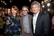 "(L-R) Director Bryce Dallas Howard, President, Content and Marketing for Disney+ Ricky Strauss and Co-Chairman and Chief Creative Officer of The Walt Disney Studios Alan Horn arrive at the premiere of Lucasfilm's first-ever, live-action series, ""The Mandalorian,"" at the El Capitan Theatre in Hollywood, Calif. on November 13, 2019. ""The Mandalorian"" streams exclusively on Disney+."