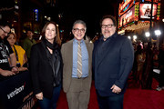 """(L-R) Executive Producer Kathleen Kennedy, President, Content and Marketing for Disney+ Ricky Strauss and Executive Producer Jon Favreau arrive at the premiere of Lucasfilm's first-ever, live-action series, """"The Mandalorian,"""" at the El Capitan Theatre in Hollywood, Calif. on November 13, 2019. """"The Mandalorian"""" streams exclusively on Disney+."""