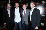 (L-R) CEO Millennium Entertainment Bill Lee, filmmaker Jon Avnet, writer/director Matthew Weiner and producer Gary Gilbert attend the premiere of 'Are You Here' at ArcLight Hollywood on August 18, 2014 in Hollywood, California.