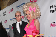 """TV personalities Sharon Needles and Alaska arrive to the premiere of """"RuPaul's Drag Race"""" Season 5 at The Abbey on January 22, 2013 in West Hollywood, California."""