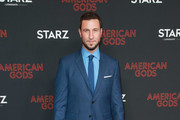 """Pablo Schreiber attends the premiere of STARZ's """"American Gods"""" season 2 at Ace Hotel on March 05, 2019 in Los Angeles, California."""