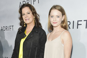 "Marcia Gay Harden (L) and Julitta Scheel arrive at the premiere of STX Films' ""Adrift"" at Regal LA Live Stadium 14 on May 23, 2018 in Los Angeles, California."