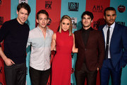 (L-R) Actors Chord Overstreet, Kevin McHale, Becca Tobin, Darren Criss and Jacob Artist attend FX's 'American Horror Story: Freak Show' premiere screening at TCL Chinese Theatre on October 5, 2014 in Hollywood, California.