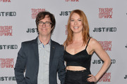 Musician Ben Folds and actress Alicia Witt arrive to the Season 5 premiere of FX's 'Justified' at DGA Theater on January 6, 2014 in Los Angeles, California.